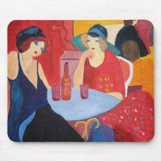 Dos señoras en un café tapete de ratón