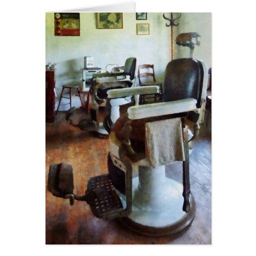 Dos sillas de peluquero tarjeta