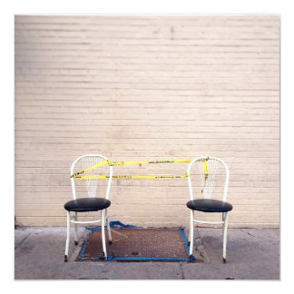 "Dos sillas invitación 5.25"" x 5.25"""