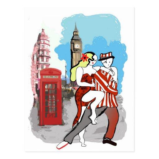 Dos Tangueros en Londres Tarjetas Postales