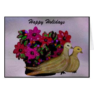 Dos tarjetas de las palomas de la tortuga