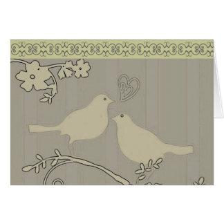 Dos tarjetas de los saludos/de nota del ~ de los