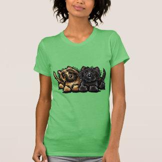 Dos terrieres de mojón camiseta