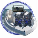 Dos terrieres de Skye hacia fuera en el barco Esculturas Fotográficas
