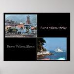 dos tiros de la impresión de Puerto Vallarta Poster