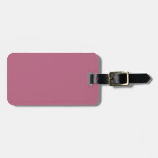 Dos-Tono Borgoña y etiqueta rosada del equipaje Etiqueta De Equipaje