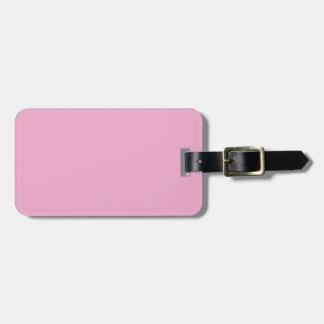 Dos-Tono Borgoña y etiqueta rosada del equipaje Etiquetas Bolsa