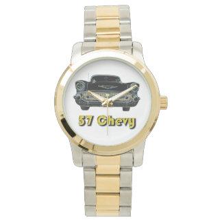 Dos-Tono de 57 Chevy con oro y el reloj del tono