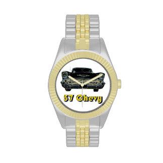Dos-Tono de 57 Chevy con oro y el reloj del tono p
