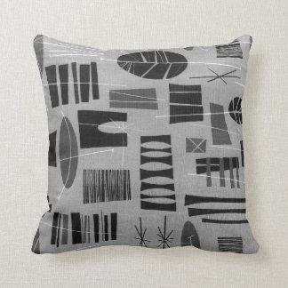 Dos-Tono GRIS de la LAGUNA de la almohada Cojín Decorativo