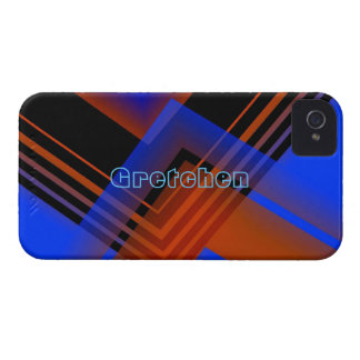 Dos tonos y líneas caso del iPhone 4 para Gretchen Funda Para iPhone 4