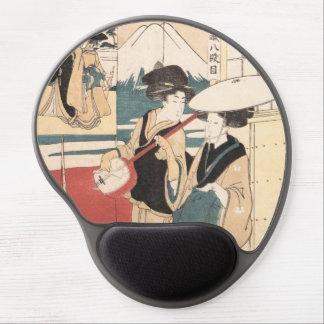 Dos Toros-oi, o músicos ambulantes Japón de las mu Alfombrilla Gel