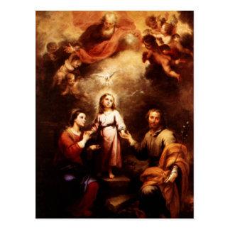 Dos Trinities - la familia santa - Murillo Postal