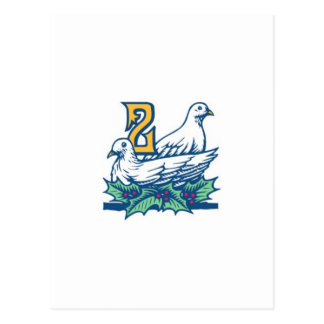 Dos Turtledoves Tarjetas Postales