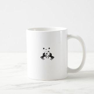 Dos unicornios taza básica blanca