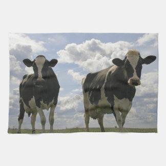 Dos vacas frisias toalla de cocina