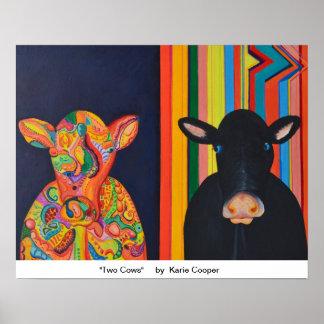 Dos vacas póster
