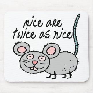 Dos veces tan Niza ratones Alfombrilla De Ratones