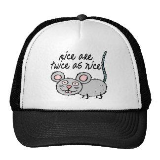 Dos veces tan Niza ratones Gorra