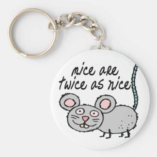 Dos veces tan Niza ratones Llavero Redondo Tipo Pin