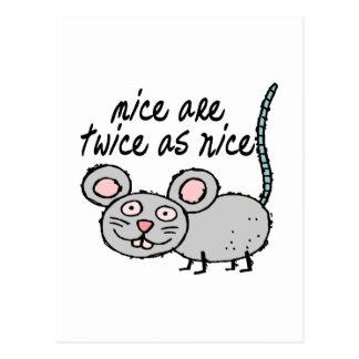 Dos veces tan Niza ratones Tarjetas Postales