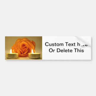 dos velas color de rosa de imagen floral amarillo- pegatina para auto
