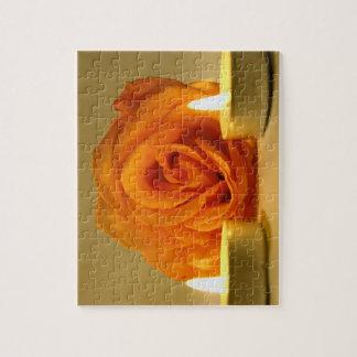 dos velas color de rosa de imagen floral amarillo- rompecabezas
