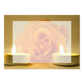 dos velas color de rosa de imagen floral comunicados personalizados