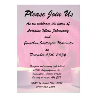 dos velas color de rosa de imagen floral rosada invitacion personal