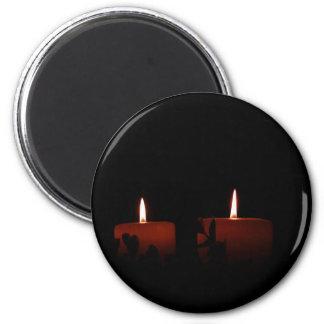 Dos velas imán redondo 5 cm
