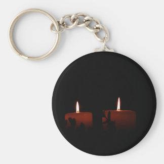 Dos velas llavero redondo tipo pin