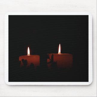 Dos velas mouse pads