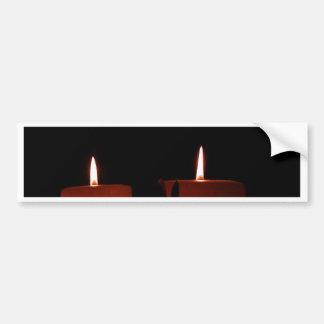 Dos velas pegatina para auto