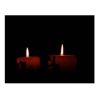 Dos velas postal