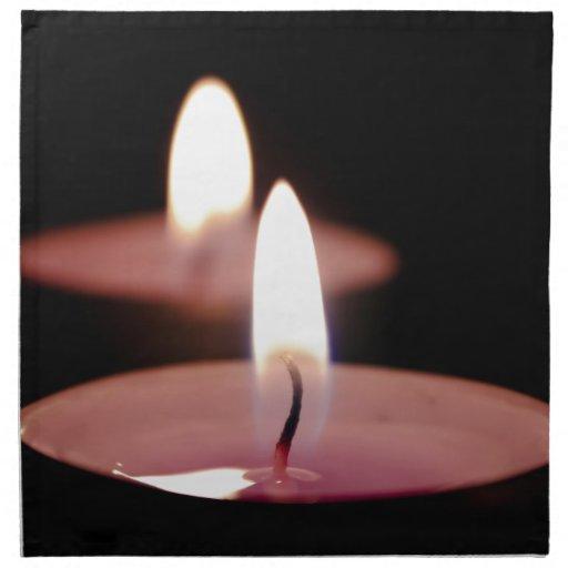 Dos velas servilletas