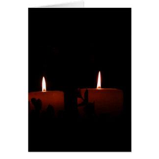 Dos velas tarjeta de felicitación