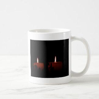 Dos velas taza básica blanca