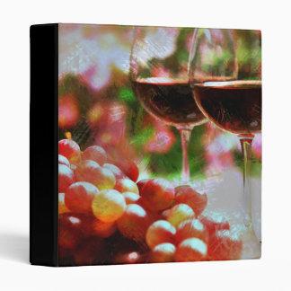 """Dos vidrios de vino con las uvas carpeta 1"""""""