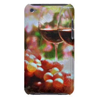 Dos vidrios de vino con las uvas Case-Mate iPod touch protectores