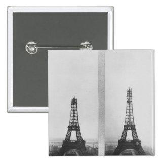 Dos vistas de la construcción de Eiffel Pin