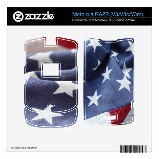 dos vistas de los E E U U señalan la piel de RAZR Motorola RAZR Skin