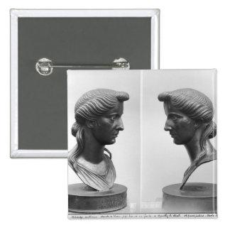 Dos vistas de un busto de Livia Pin Cuadrado