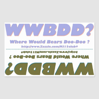 ¿Dos WWBDD? Mini Strickers de parachoques en uno Rectangular Pegatinas