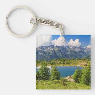 Doss dei Gembri lake in Pejo Valley Acrylic Keychain