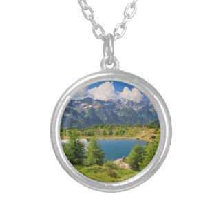 Doss dei Gembri lake in Pejo Valley Personalized Necklace