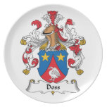 Doss Family Crest Dinner Plates