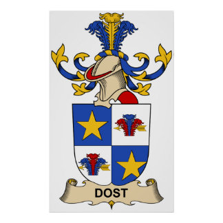 Dost Family Crest Print