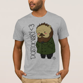 Dostoevsky hedgehog  t-shirt
