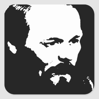 Dostoevsky Square Sticker