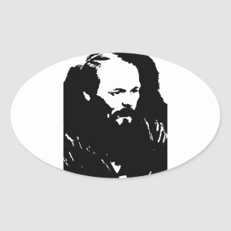 Dostoyevsky Pegatina Oval